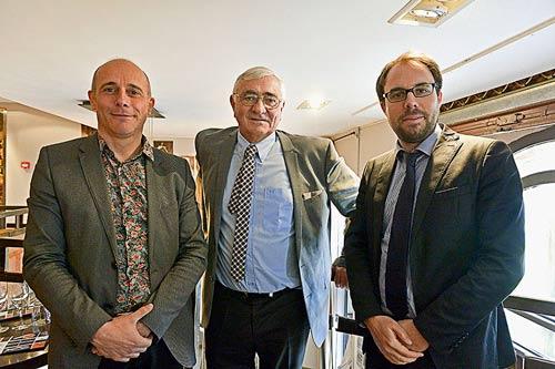 De gauche à droite: Thierry Merquiol, Serge Laroze et Vincent Gibert ©Dac Phat Tran