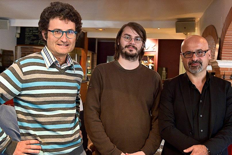 Rémy Gire, Bruno Flaujac et Guillaume Crouau ©Tran Dac Phat