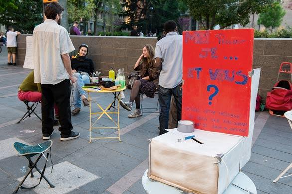 politique dans la rue