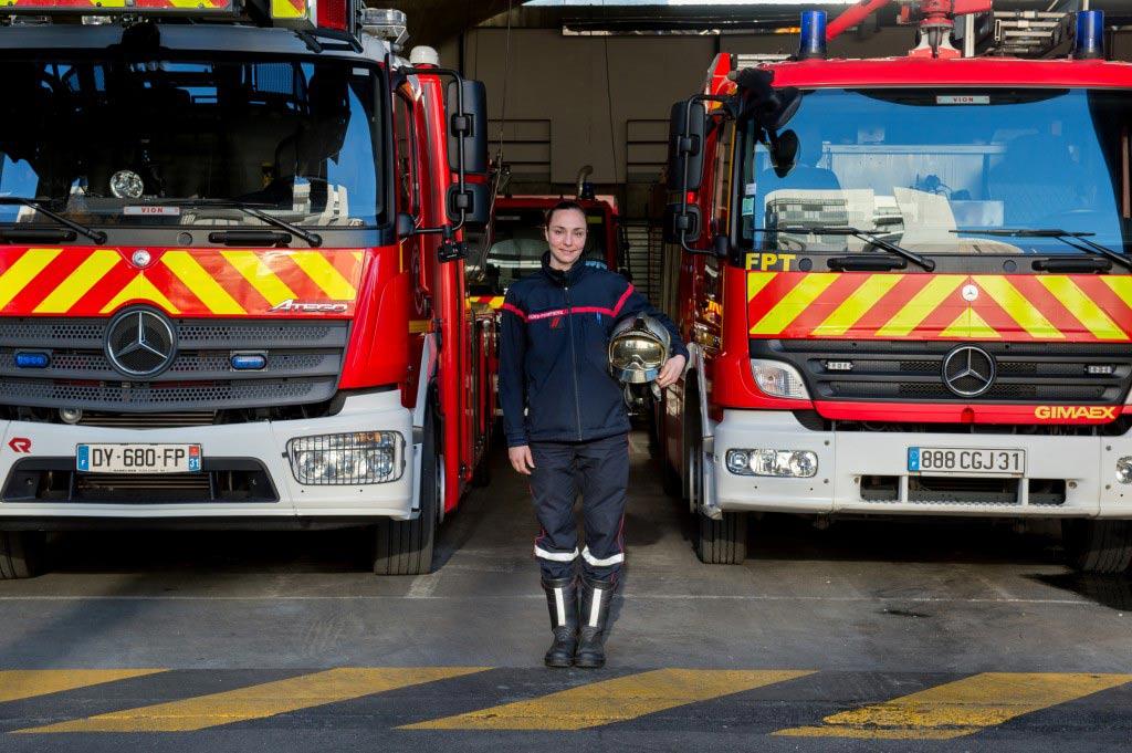 pompier femme