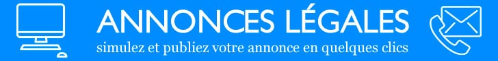 Annonces légales bandeau