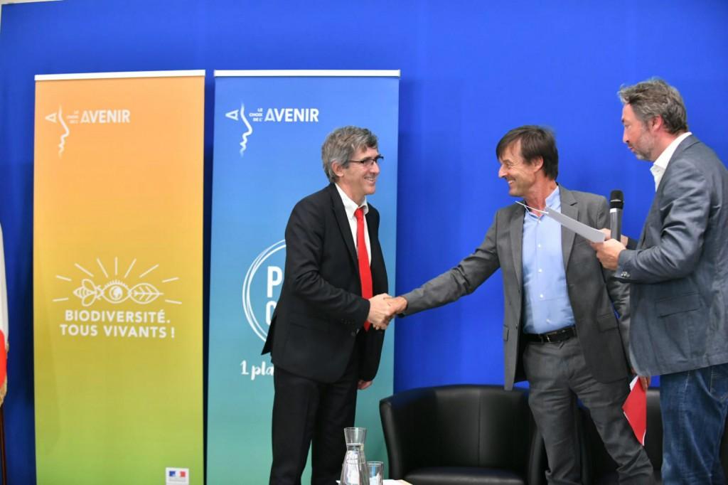 Jean-Michel Fabre et Nicolas Hulot juilet 2018