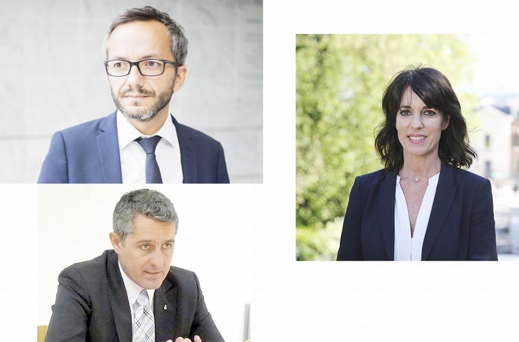 Sébastien Vincini, Pierre Castéras et Laurence Arribagé
