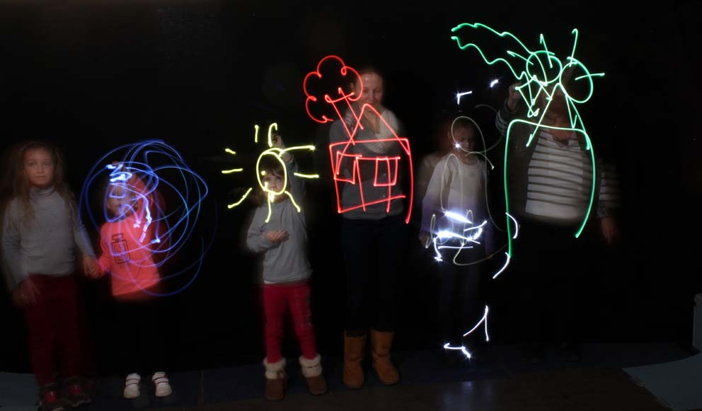 30 secondes de tracé en famille Lumières sur le quai