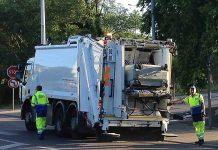 Camion poubelle collecte déchets ménagers