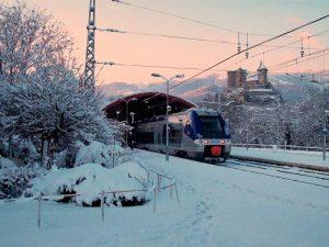 prendre le train ski