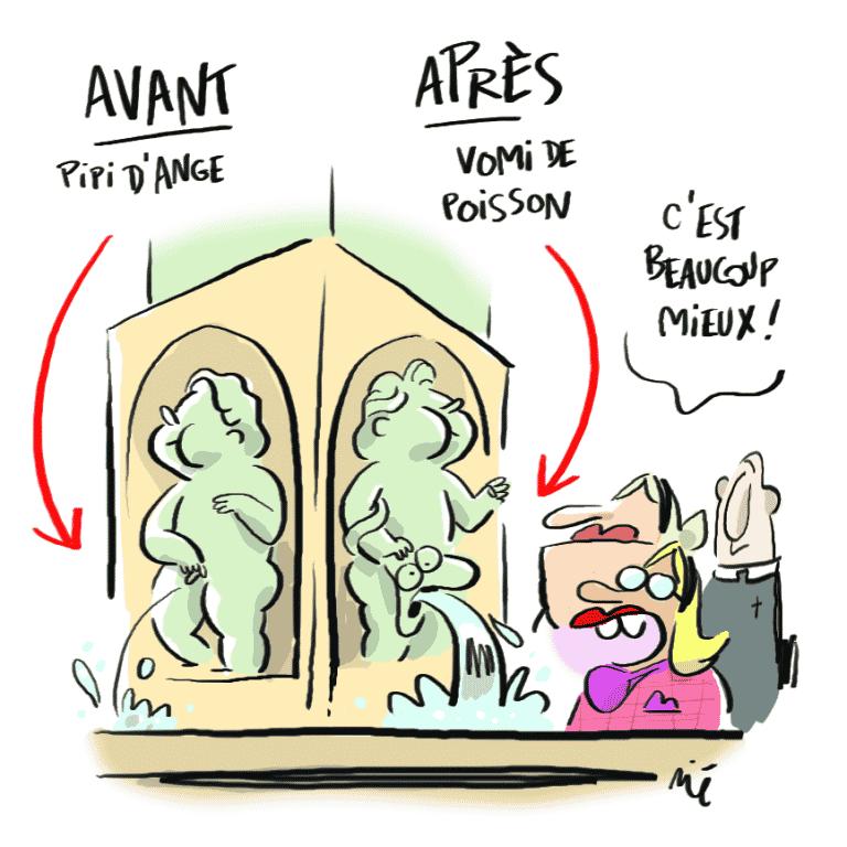 [#LeBQE] Pourquoi les figurines de la fontaine St Étienne n'ont pas toujours été des anges?