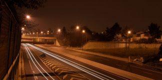 Rocade de Toulouse la nuit