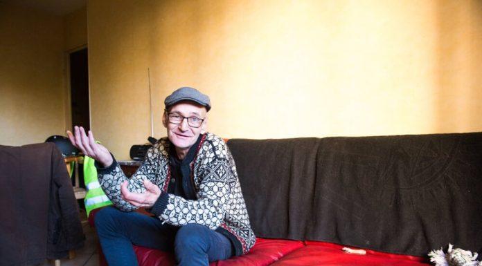 Stéphane, un ancien SDF qui a de la bouteille