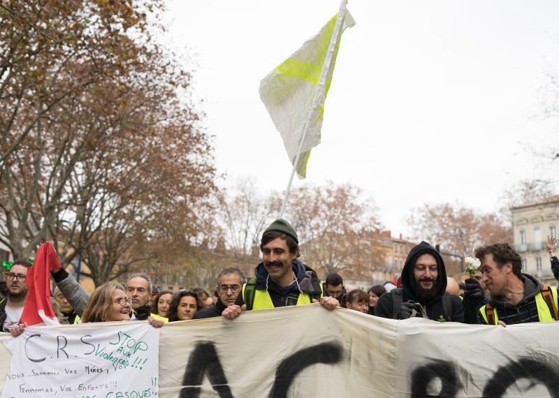 """""""Acte XXII"""" :Rassemblement des Gilets jaunes à Toulouse - ©Tom Pujalte"""