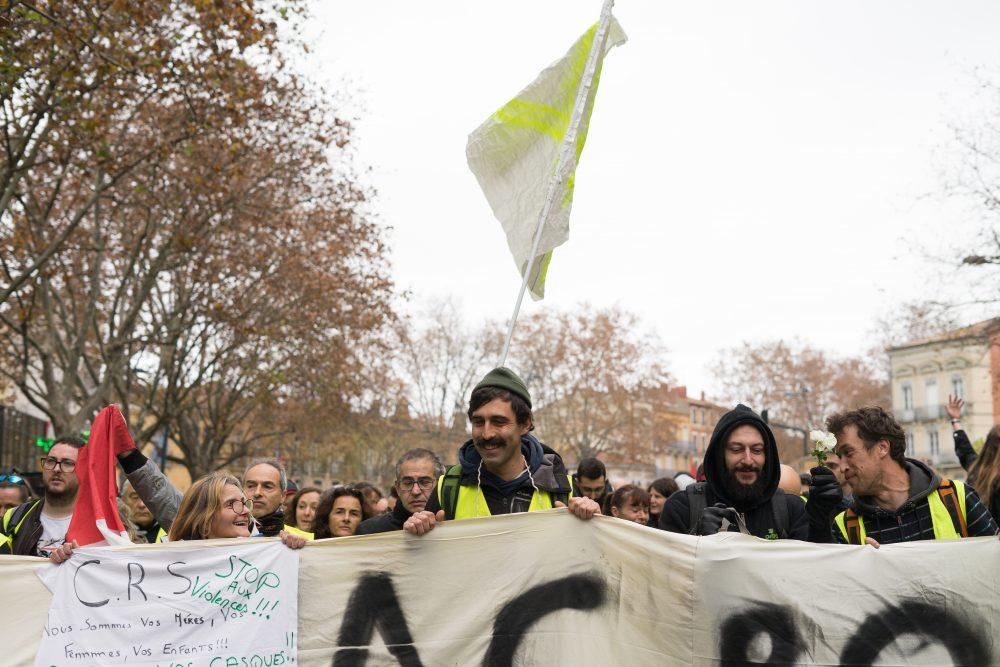 """""""Acte XXII"""": Rassemblement des Gilets jaunes à Toulouse - ©Tom Pujalte"""