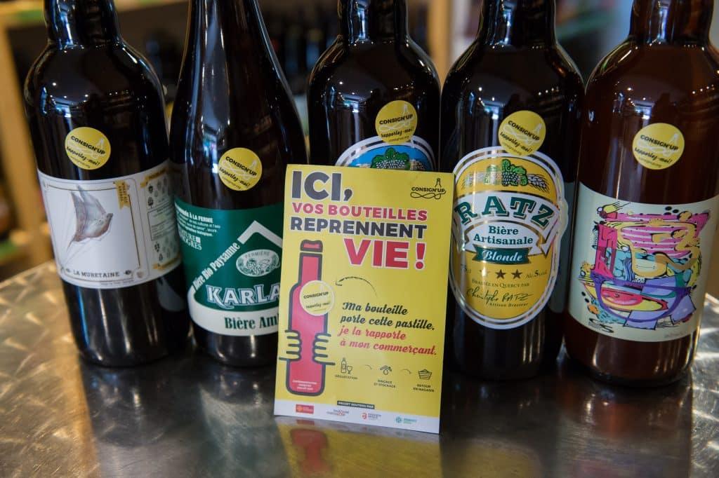 Avec Consign'up, la bouteille en verre consignée fait son retour à Toulouse