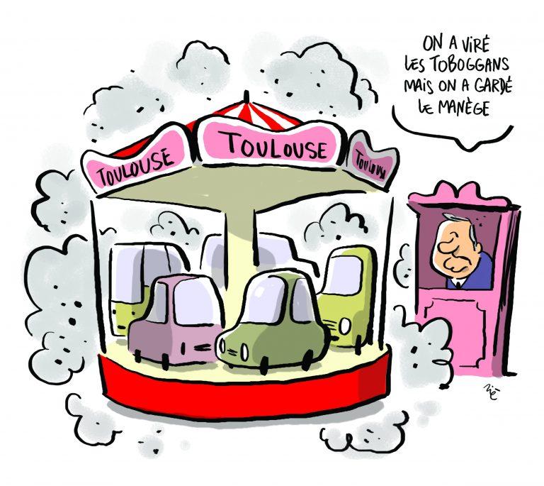 Pourquoi n'y a-t-il plus de toboggans dans le centre-ville de Toulouse?