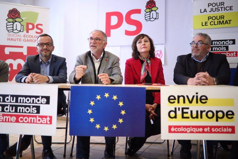 Le député européen socialiste Éric Andrieu en visite à Toulouse pour donner Envie d'Europe