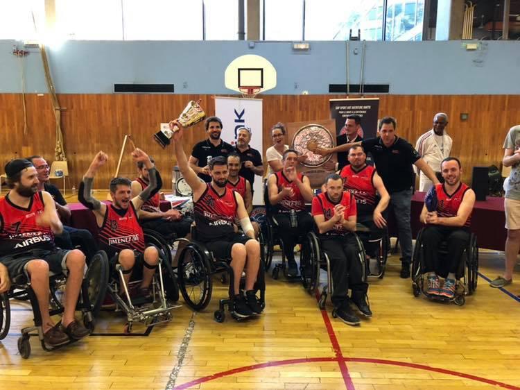 Le Stade Toulousain, champion de France de rugby fauteuil