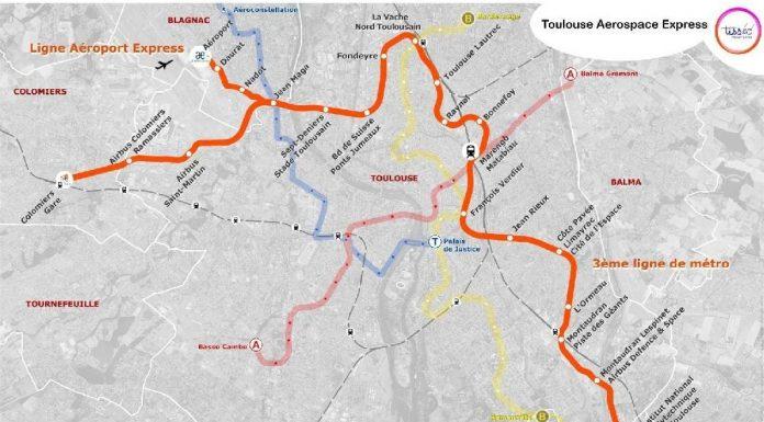Tisseo - tracé de la Ligne 3