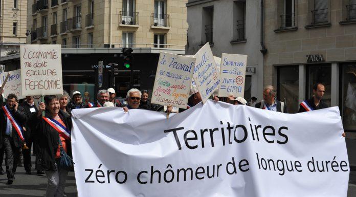 1ere manif nationale zero chomeur de longue duree a Paris le 27 avril 2015 (ph ATD)