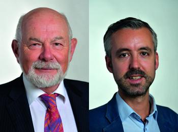 Pierre Trautmann (à gauche) répond à Antoine Maurice (à droite)