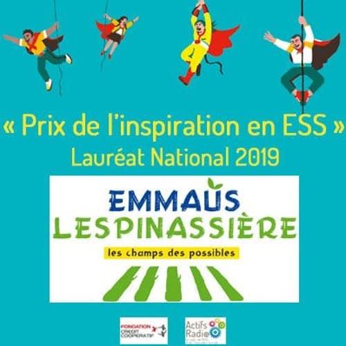L'inspiration en ESS #35 – EMMAÜS LESPINASSIERE : lauréat national des Prix de l'inspiration en ESS