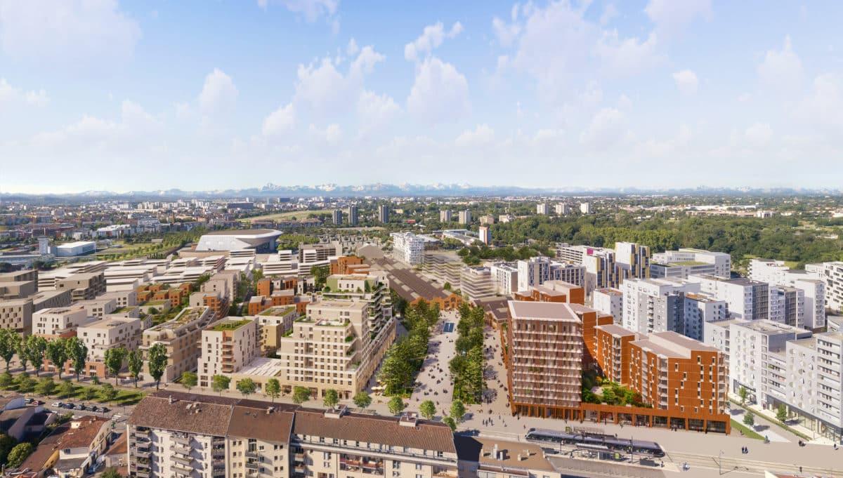 Vue aérienne de la Cartoucherie à Toulouse Oppidea