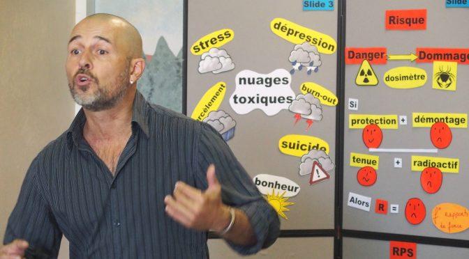 Une conférence gesticulée sur les risques psychosociaux