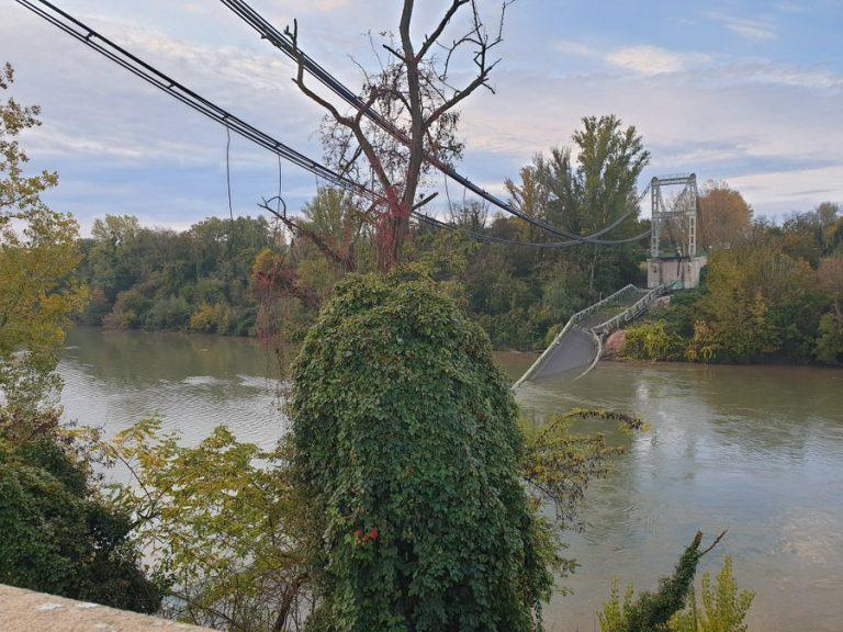 Mirepoix-sur-Tarn: Les travaux de démontage du pont effondré ont commencé