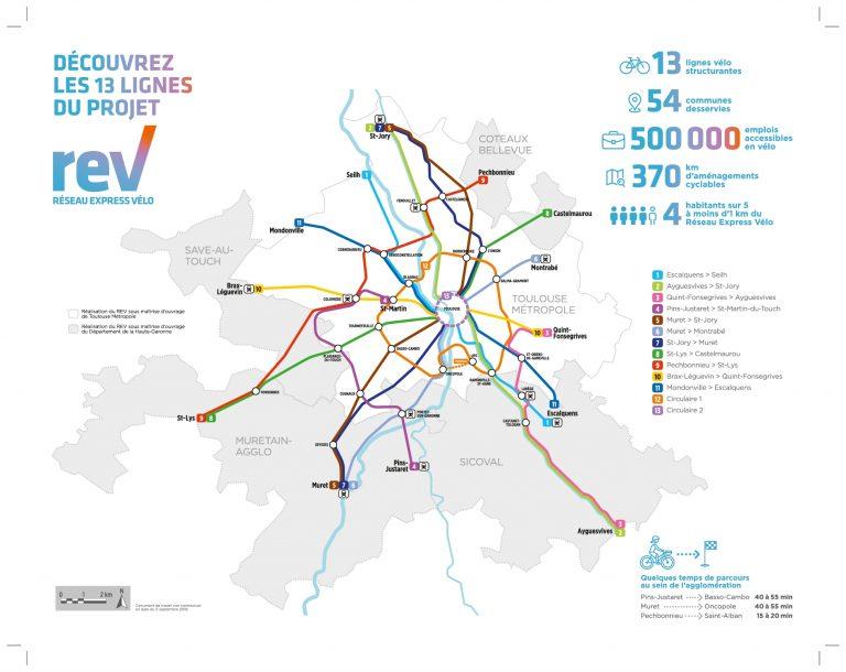 Mobilité: Feu vert pour les 13 lignes du réseau vélo express