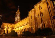 Toulouse-Basilique-Saint-Sernin-nuit