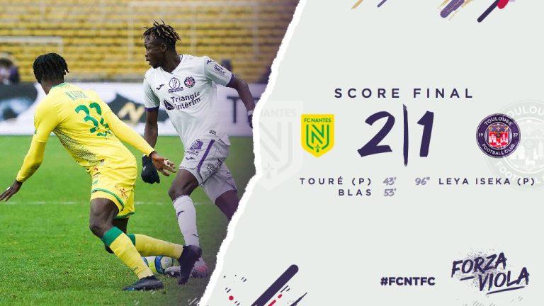 Vidéo. Défait à Nantes (2-1), le TFC dernier de Ligue 1
