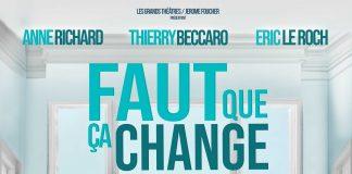 """Affiche theatre """"Faut que ça change"""""""