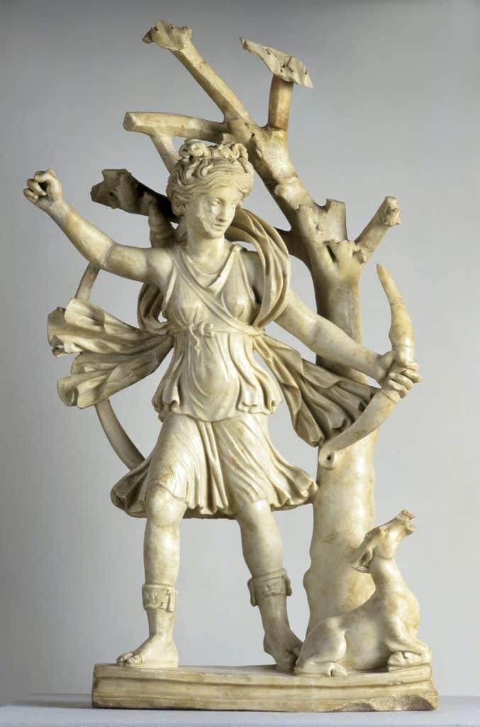 Statuette de Diane Chasseresse © Hugo Maertens - Exposition Wisigoths