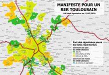 carte RER toulousain