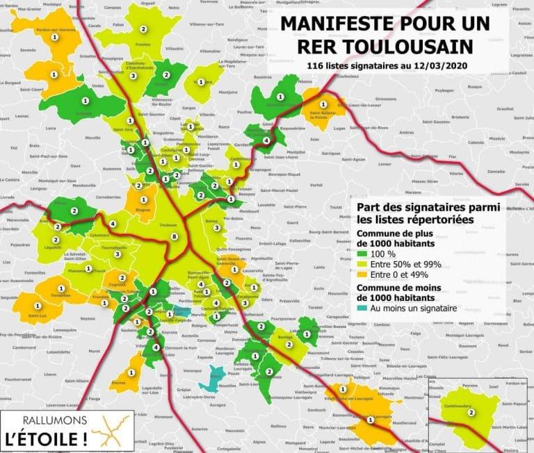 Plus de 120 listes prêtes à monter dans le RER toulousain