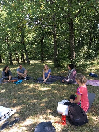 Atelier de méditation réalisée en septembre 2019 ©Sonia Baesberg