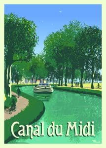 Canal du Midi ©Marcel Travel Posters