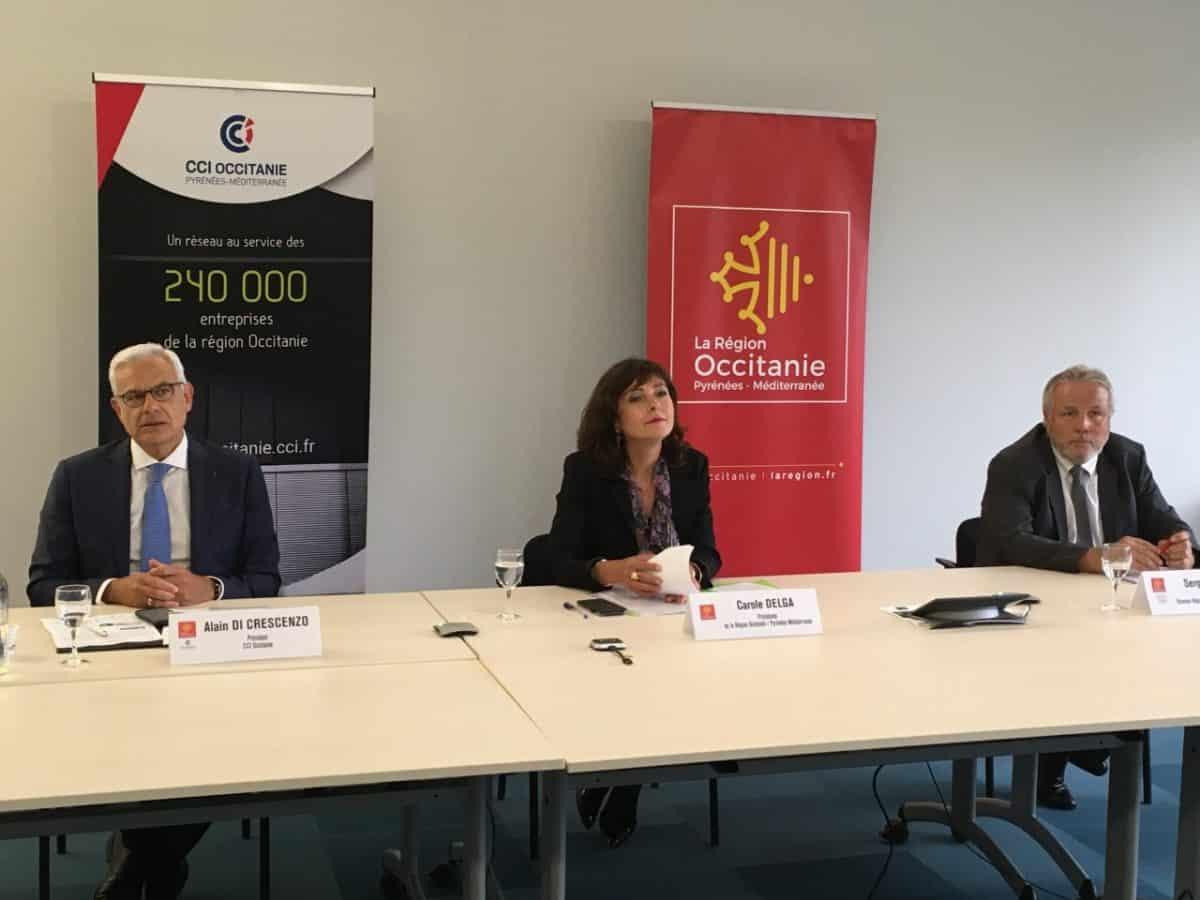 Carole Delga, Alain Di Crescenzo et Serge Crabié au chevet de l'économie locale en Occitanie © DR