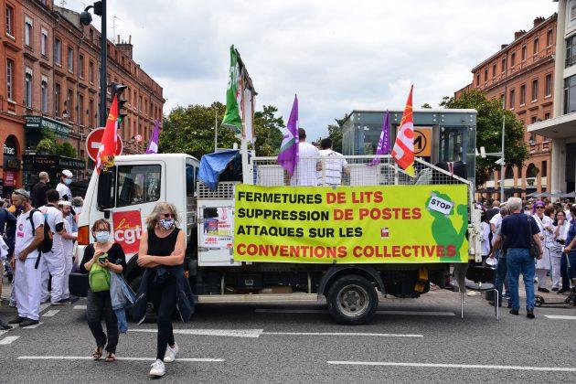Manifestation monstre soignants Toulouse