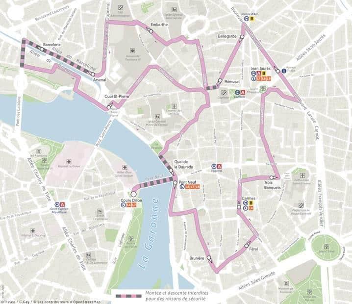 Remise en service de la navette centre-ville à Toulouse