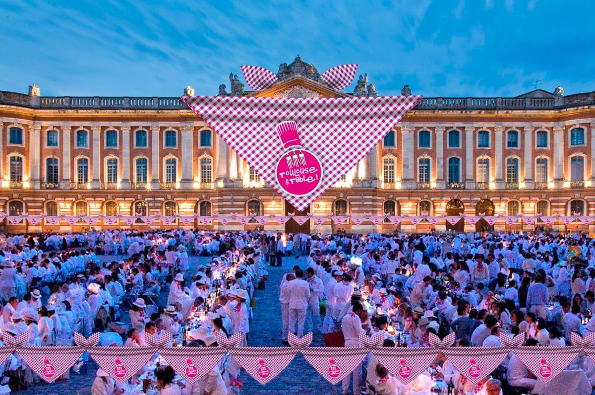 Le banquet géant Toulouse à table
