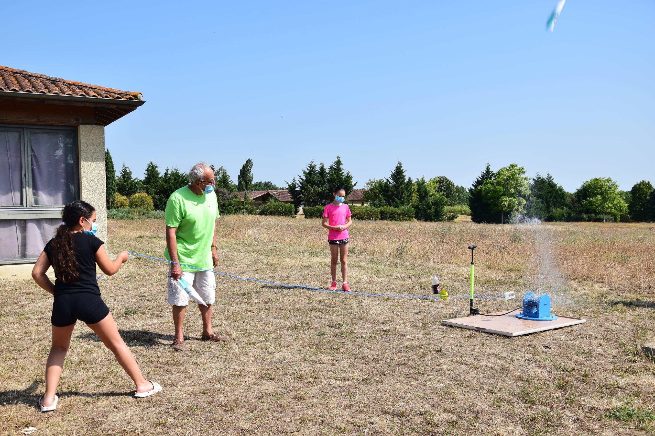 Fusée à eau colos apprenantes ligue enseignement
