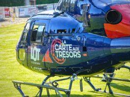 hélicoptère carte au trésor