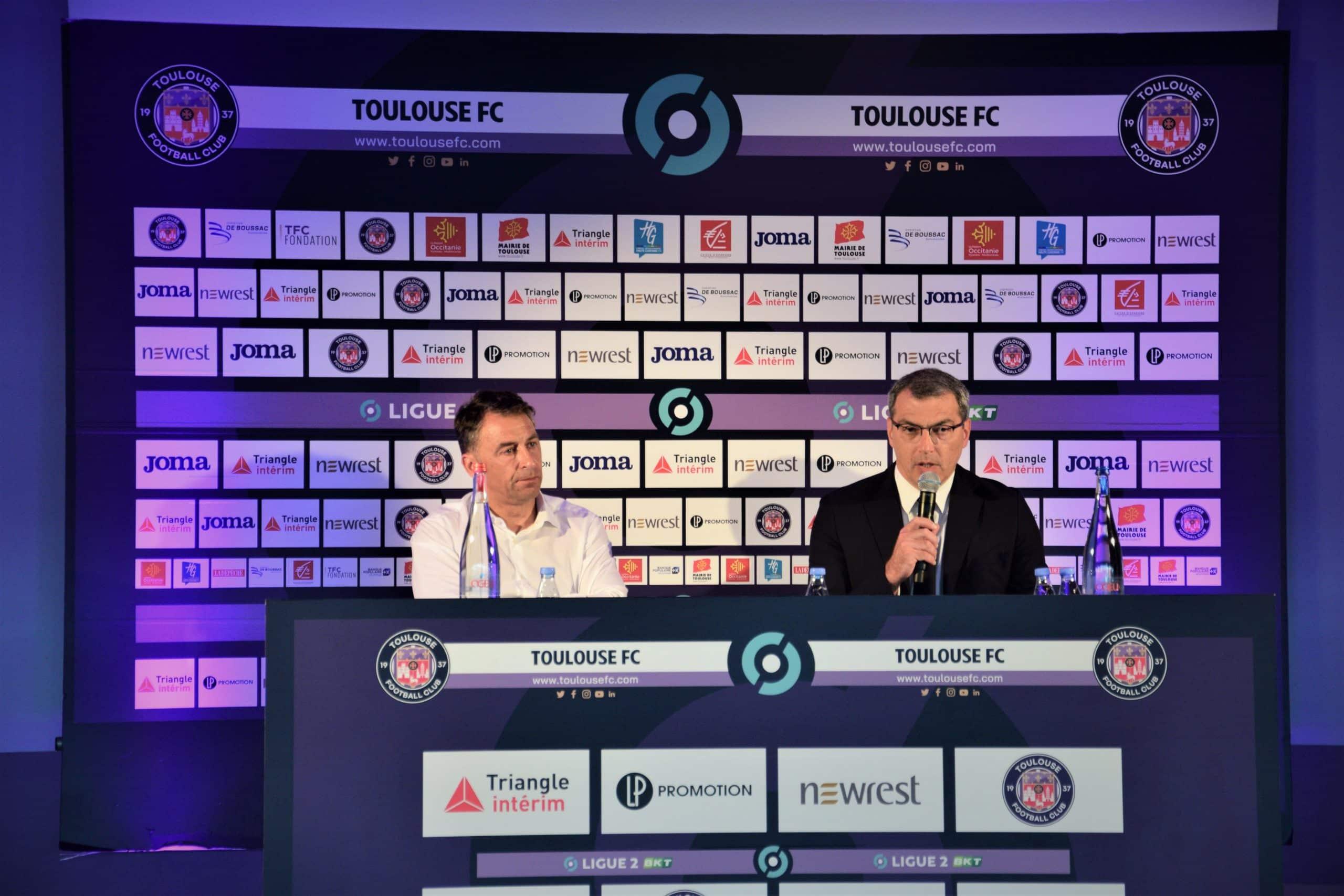 Olivier Sadran et Damien comolli - Toulouse Footbal club TFC