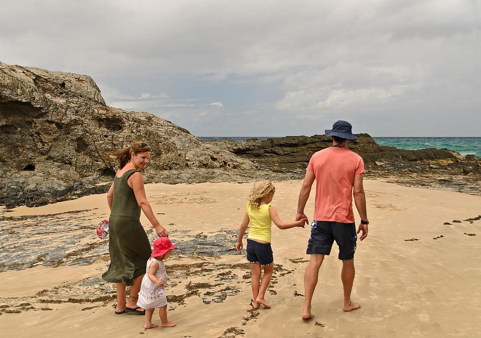 vacances famille mer