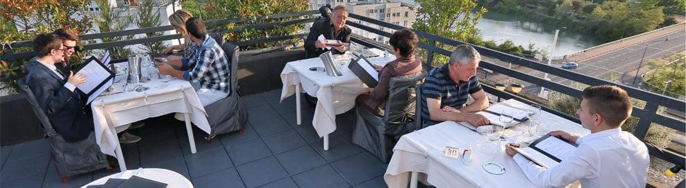 Le rooftop de la Table du Belvédère
