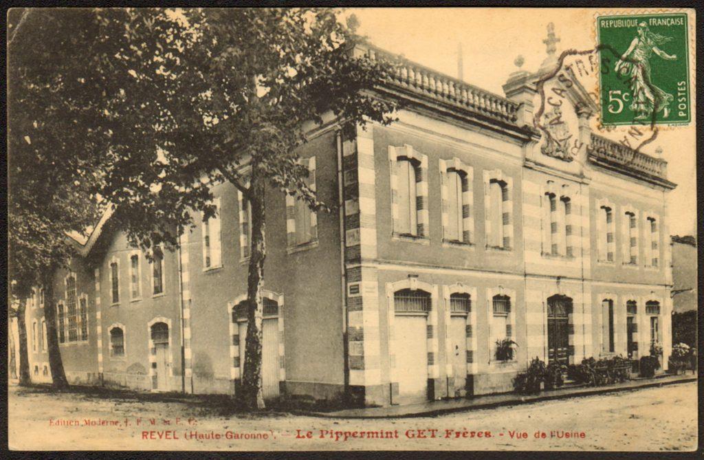 La Fabrique des frères Get, à Revel, au début du siècle dernier. Elle est aujourd'hui devenue un centre culturel.