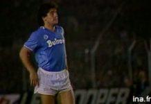 Diego Maradona lors de la rencontre du TFC contre Naples le 1er octobre 1986©INA.FR