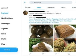 tweet vente de drogue en ligne