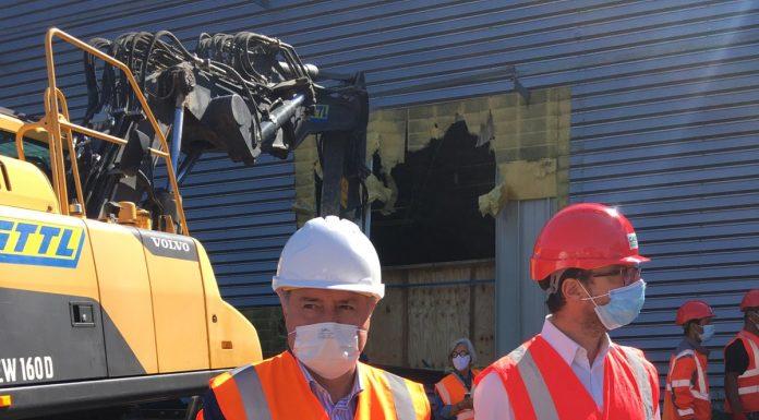 Jean-Luc Moudenc a lancé le chantier de déconstruction de l'ancien Parc des expositions de Toulouse @ PS