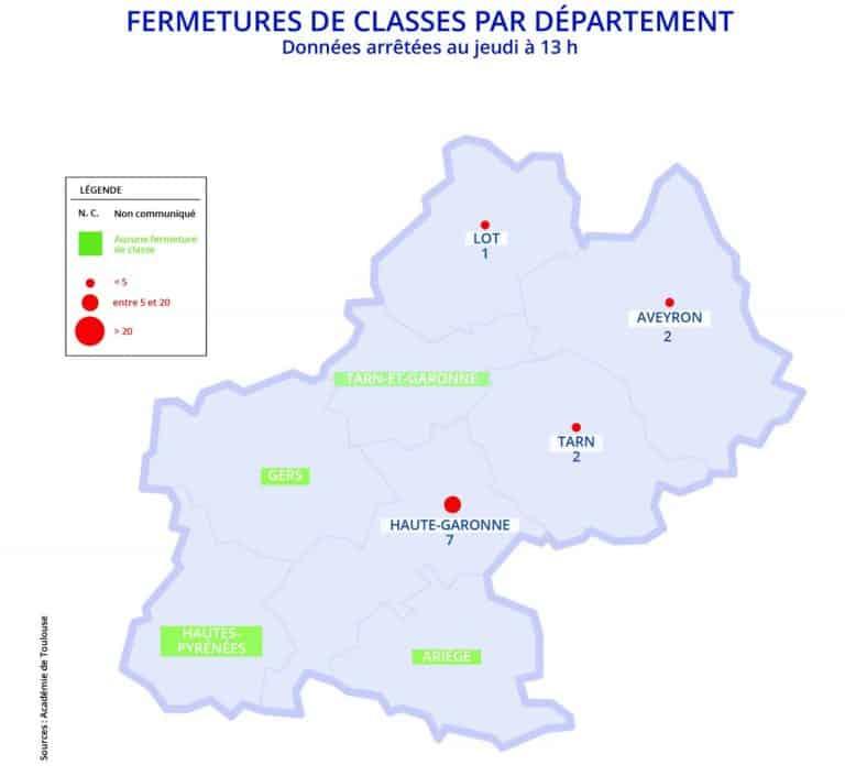 12 classes sont encore fermées pour cause de Covid-19 dans l'académie de Toulouse