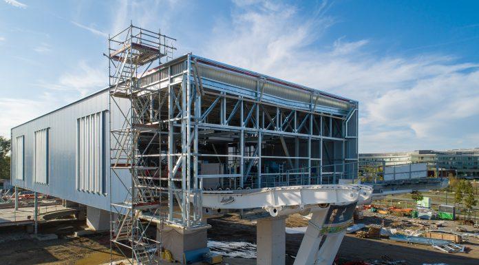 La station Oncopole du futur téléphérique urbain de Toulouse Téléo © Tisséo Ingénierie - Airimage